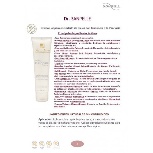 Dr. SANPELLE Gel-Cream for skin prone to Psoriasis 100 g.